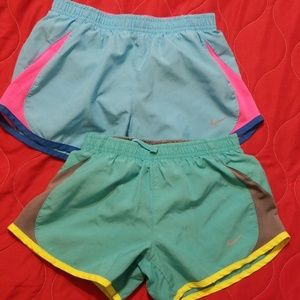 2 pair of Girls Nike shorts size small